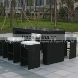 good sell bar sets outdoor PE rattan wicker dining furniture