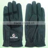 Black PU Synthetic Golf Gloves