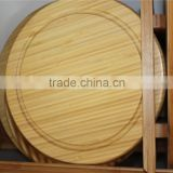 wooden high quality bamboo cheese cutting board, round bamboo chopping board for cheese cutting