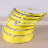 Gold double faced grosgrain ribbons roll for gift wrap cake card making cake box 1/8 1/4 3/8 1/2 5/8 3/4 1 2 3 inch wide                                                                         Quality Choice