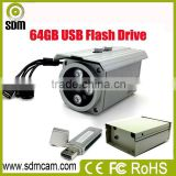 Outdoor waterproof bullet cctv camera with recording function( video stored into U-disk)
