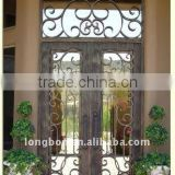 hand forged iron entrance gates design for home