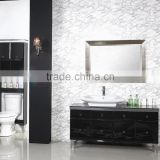 "36"" black finish bathroom cabinet vanity with integrated sink"