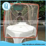 China factory sale zipper two holes rectangle folding metal crab fish trap net