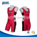 High quality sublimated printing China factory colorful custom children wrestling singlet