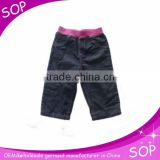 Casual baby clothes wholesale kids blue short pant baby boy denim pants