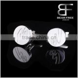 Classic Style Mens Stainless steel wedding Cufflinks Bulk sales Guangzhou
