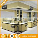 New custom modern MDF glass many drawers led lighted locked jewelry display showcase cabinet for jewelry store kiosk