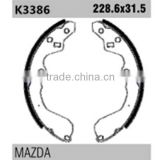 kia auto parts K3386 OK9A6-26-23Z for Mazda KIA rear bendix brake shoes
