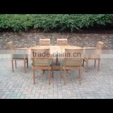 Dining Table with 6 Chairs Solid Teak Wood Garden Furniture NFG01