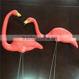 Pink garden plastic flamingo for decoration Plastic bird hand printed