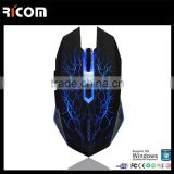 Ricom Eco Li-rechargeable ergonomic wireless game mouse,decorative game mouse,best computer gaming mouse--GM16--Shenzhen Ricom