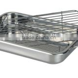 Stainless Steel squared roasting pan with rack