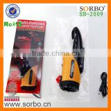 SORBO Emergency LED Rechargeable Torch Light for Auto,4 In 1 Portable Car Tools with Belt Cutter,Mobile Phone Charger,Hammer