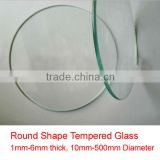 cut to size tempered glass, round glass