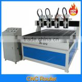 china Large four heads Advertising CNC router machine ZK-1212-4