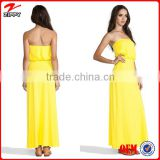 Evening gowns long gowns for women yellow gowns long chiffon maxi dress formal gowns 2014