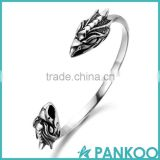 pankoo wholesale 2016 animals Domineering exposed section series of retro punk tai silver and titanium unisex bracelet