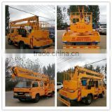 Japanese technology 12m hydraulic rising platform truck 9m telescope boom truck truck mounted boom lifts 4*2 boom lift truck