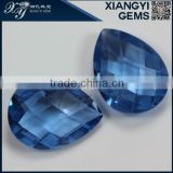 wholesale prices for 108# 6*8mm pear shape double checkerborad spinel gemstones from Chinese Xiangyi jewelry comany