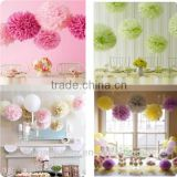 Newest Honeycomb Paper Flower Balls/Pompoms for Decoration Home, Party, Wedding, Baby Shower