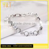 Factory price wholesale cubic zirconia silver bracelet 925 sterling silver jewelry for women