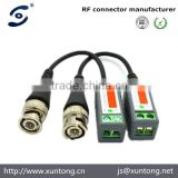 passive security CCTV UTP twisted pair BNC male connector video balun
