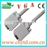 high quality beige vga cable 15pin to15pin