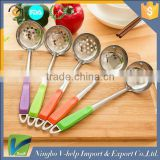 Hanging spoon Cooking Tools Stainless Steel Soup Spoons Wall Hanging Long Handle Ladle Kitchen Utensils Solid Server Spoon