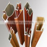 6063 series aluminium wood grain finish/wood colour aluminium profile for curtain wall/window&door frame /furniture/handrail