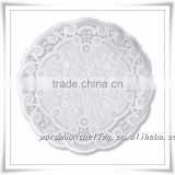 White Silver Golden Color Round Lace Paper Doilies