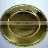 Solid Brass and Copper Charger Plates and Underplates Tableware and Cutlery