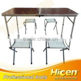 MDF Board Folding Table and Aluminium Chair for Outdoor Picnic