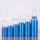 120 ml blue aluminum pump spray bottles