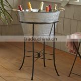 Galvanized Metal Beverage Wholesale tubs with stand in Copper Antique Finish