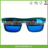 Attractive adequate quality handiwork bamboo wooden sunglasses/wood sunglasses polarized/HOMEX
