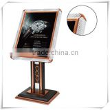 Hotel lobby sign stand/ eye catching advertising sample sign board/ poster frames/ freestainding magazine stand/ banners P-78