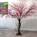 GNW BLS023 Artificial Peach Flowers Tree with pink color deractive home indoor use 7ft high