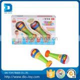 Hot selling 2 set colorful plastic musical hammer with light and music toys for baby