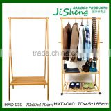 Home Furniture Folding Bamboo Wooden Cloth Coat Hanger Stand