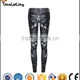 2017 New Arrival Fashion Women Legging pattern Digital Print Fitness Leggings New Pants Punk Trousers Jeggings
