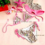 Latest Design Baby Leopard Print - Cheetah Girls Swim Suit Kids Bathing Suit Sexy Bikini Swimwear for baby