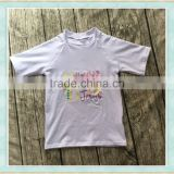 wholesale children's boutique cloth Easter boy shirt children wear Jesus embroidered cotton t shirt tiny custom shirt