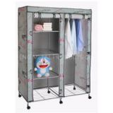 Portable Large Canvas Wardrobe Canvas Armoires With Wheels Amazon