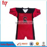 OEM Service 100% Polyester Mesh Wicking Material American Football Jersey for Teams