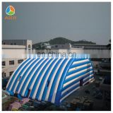 2017 Aier giant outdoor blue and white dome tent for sale/air tent for party
