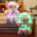 Small Moq Cheap Factory Direct Sale Bright Light UP Plush Bear Toy, Bear Shaped Light UP Plush Toy, Led Light Teddy Bear Toy