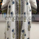 Indian Hand Block Printed Cotton Dress Long Women Tunic long dresses manufacturer from India