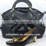black cheap ladies african dress shoes and bags