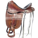 trail saddle - WESTERN TRAIL HORSE BLACK LEATHER SADDLE
